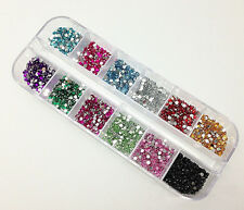 1200pc Women Manicure Wheel Supplies Nail Art Rhinestones Glitters Tips Decorat