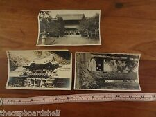 Vintage antique photo lot China 1900 1910 buildings from album snap shots