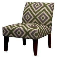 Avington Upholstered Slipper Chair Gray/Green Diamond Velvet - Threshold™