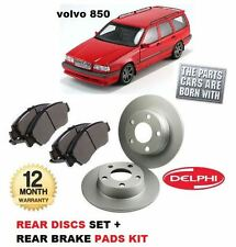 FOR VOLVO 850 1993-1997 2.0 2.3 2.5 NEW REAR BRAKE DISCS SET + DISC PADS KIT