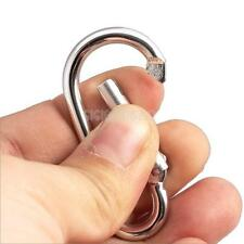 4 PCS MOSQUETON LLAVERO  ALUMINIO Aluminum Carabiner Snap Clip Hook Keychain