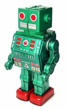 Metal House Battery Operated Green Dino Robot Tin Toy Japan Made NEW SOLD OUT