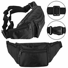 New Travel BUM BAG Waist Money Belt Passport Wallet Zipped Security Pouch