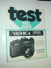 TEST PHOT ARGUS  yashica FR en francais photo photographie
