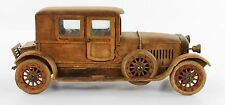 A vintage early 20th century scratch built wooden car.  Handmade model. 1920's