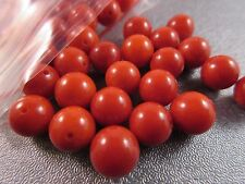 Red Bamboo Coral Round 8mm Beads 50pcs
