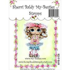 NEW My-Besties Clear cling Rubber Stamp CUP CAKES FOR YOU  GIRL  free usa ship