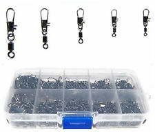 300Pcs Fishing Barrel Rolling Swivel Fishing Snap Tackle Connector Accessories