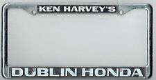 Dublin California Ken Harvey's Honda Superstore JDM Vintage License Plate Frame
