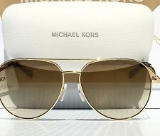 NEW* MICHAEL KORS AVIATOR Tortoise GOLD Mirror 58mm MK5009 Rodinara Sunglass