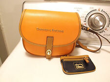 DOONEY & BOURKE CLAREMONT FIELD BAG LEATHER CROSSBODY SADDLE HANDBAG /COIN PURSE