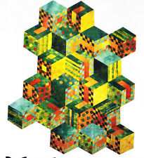 Tumbling - unusual modern pieced quilt PATTERN - Whirligig Designs
