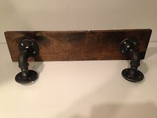 """24"""" Shelf made with 3/4"""" Industrial pipe and 1""""x12"""" Wood (Pick your own stain)"""