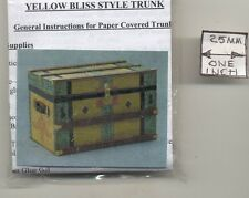 Lithograph Wooden Trunk Kit dollhouse miniature 1/12 scale CPT107  USA yellow
