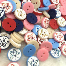 12mm Mix Butterfly Plastic Buttons Scrapbooking Sewing Craft PT128
