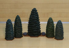 Heroscape Terrain - Forest Set of 5 Evergreen Trees  - Expand Your Battlefield