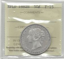 **1882H**ICCS Graded Newfoundland Fifty Cent **F-15**