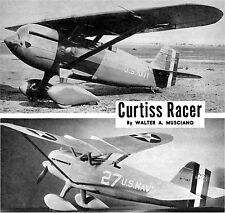 """Model Airplane Plans (FF) : Curtiss Xf6C-6 Racer 1/12 Scale 31"""" 1/2A (Musciano)"""