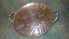 """Vintage 1950's Everlast Forged Aluminum SERVING TRAY, BAMBOO PATTERN, 11-1/2"""""""