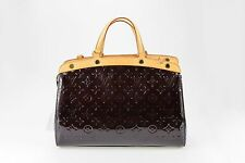 LOUIS VUITTON handbags Amarante Purple Monogram Vernis Leather Brea Satchel MM