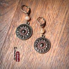 Boucles d`Oreilles Dormeuse Goutte Rond Mini Perle  Retro Original Cadeau EE 4