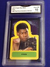 2015 Topps Star Wars Finn  The Force Awakens Sticker  Gem MT 10