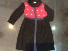 NWT Brigitte Bardot New & Gen. Ladies Size 10 UK Black Viscose Dress With Pearls