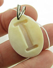 NEW M M Scognamiglio Italy Sterling Cameo Initial I Necklace Pendant NWT $89.95