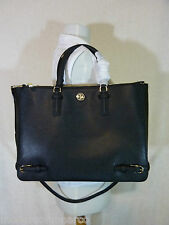 NWT Tory Burch Black Saffiano Leather Large Robinson Multi Tote - $595