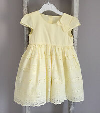 Baby Girl Mothercare Dress & Knickers Outfit Set Size 9-12 Months Lemon Yellow