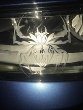 Tribal Spider Black Widow Frosted Glass Headlight (2) Car Decal Sticker Mirror