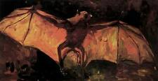 FLYING BAT, Vincent Van Gogh Fine Art Reproduction Rolled CANVAS PRINT 29x17 in.