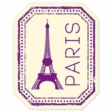 "Paris France travel car bumper window suitcase sticker 5"" x 4"""