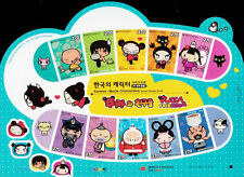 Korean Made Characters II Pucca Animation Cartoon 2012 Korea (sheetlet) MNH