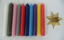 MINI CANDLE MAGIC SET 10 ASSORTED CANDLES + GOLD HOLDER (Spell Wicca Chime)