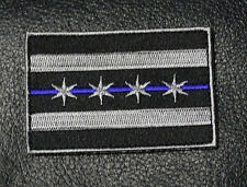 CHICAGO ILLINOIS FLAG POLICE TACTICAL SWAT POLICE BLUE LINE IRON ON PATCH