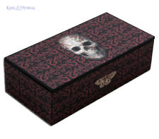 "Anne Stokes Trinket Jewellery Box with Mirror: ""Oriental Skull"" Gothic"
