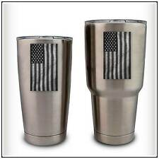 Subdued American Flag Military Decal Sticker compatible with YETI Tumbler USA