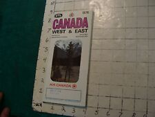 HIGH GRADE Vintage brochure: AIR CANADA 1974 west & east 20 triple pages