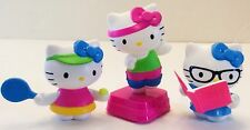 Hello Kitty Sanrio McDonalds Toys lot of 3 Tennis Dancing Reading