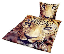 Bettwäsche mit Gepard Tiger Motiv - Jugendstil, Größe: 135 x200/80 x 80 cm