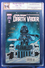 Star Wars Darth Vader #1 PGX (not CGC) 9.6 NM+ Baby Variant Signed Skottie Young