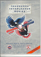 1997 NY Mets vs Boston RedSox Inaugeral Interleague Series Program Comm Edition