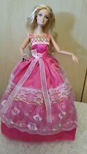BARBIE DOLL PINK DRESS EVENING GOWN ONE OF A KIND HAND MADE