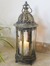 LARGE ANTIQUE STYLE METAL LANTERN CANDLE HOLDER HOME WEDDING 61cm