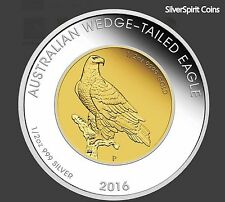 2016 AUSTRALIA WEDGE TAILED EAGLE BI METAL Gold & Silver 1oz Proof Coin