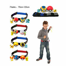 Hot Pokemon Clip and Carry Pokeball Toys Cross Belt Games Kids Boys Gifts XMAS