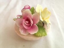 Thorley Flower Floral Rose Bouquet Staffordshire England English Bone China Bowl