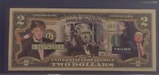 DONALD TRUMP for Presidential Primary Race GOP Campaign Colorized $2 Dollar Bill