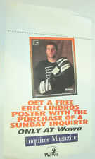 PHILADELPHIA FLYERS HOCKEY POSTER ERIC LINDROS INQUIRER WAWA STORE DISPLAY